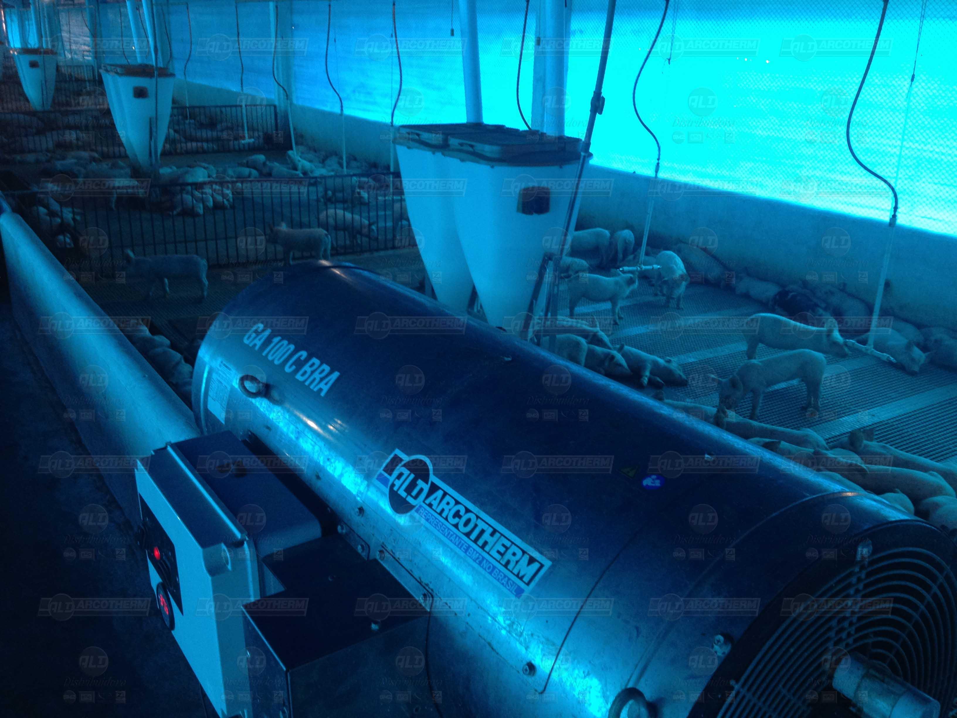 Suinos - galpao recria de leitoes - UPL - aquecedor - gerador de ar quente - arcotherm- 2